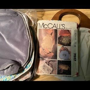 McCall's 7517, Bermuda bag, unfinished covers